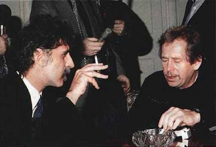 Frank Zappa and Vaclav Havel